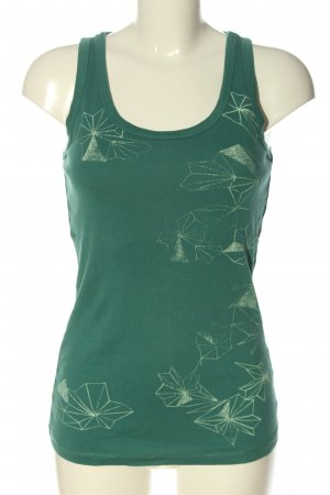 edc Tanktop grün Motivdruck Casual-Look