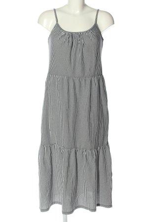 edc Trägerkleid schwarz-weiß Streifenmuster Casual-Look