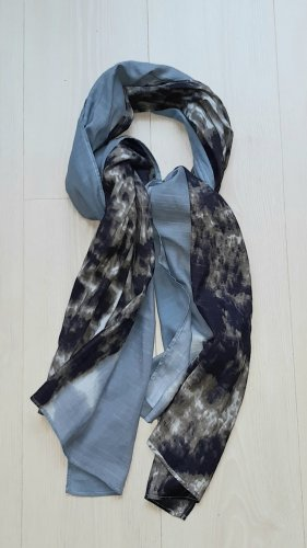 EDC : Tuch / Schal 70 x 180 cm weiß bleu blau,wie Neu,keine Fransen