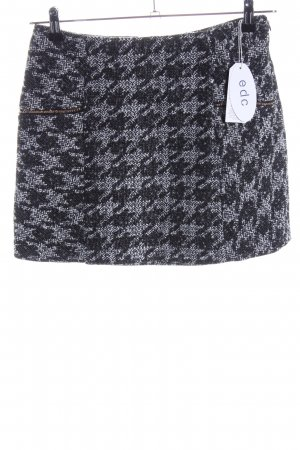edc Tweed Skirt light grey-black allover print casual look