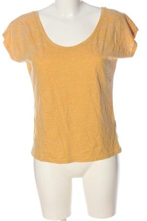 edc Boothalsshirt licht Oranje-wit gestippeld casual uitstraling