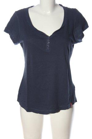 edc U-Boot-Shirt blau Casual-Look