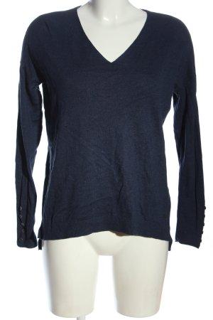 edc V-Ausschnitt-Pullover blau Casual-Look