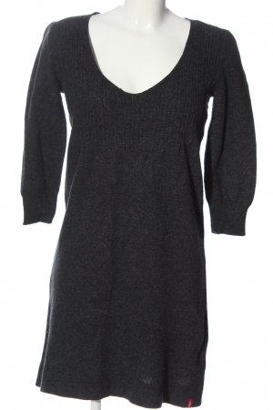 edc Pulloverkleid schwarz-hellgrau Casual-Look