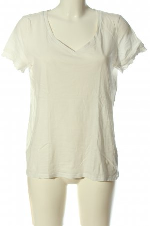 edc Koszulka z dekoltem w kształcie litery V w kolorze białej wełny