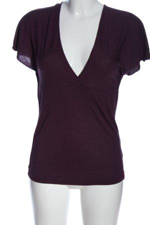edc V-hals shirt lila casual uitstraling