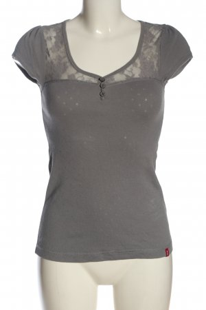 edc T-shirt col en V gris clair style décontracté