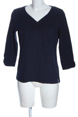 edc V-Ausschnitt-Shirt blau Casual-Look