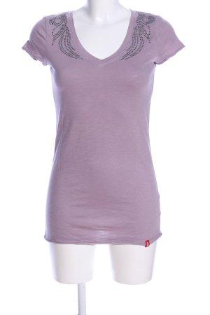 edc V-Ausschnitt-Shirt pink Casual-Look