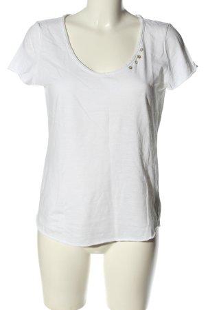 edc Camisa con cuello V blanco look casual