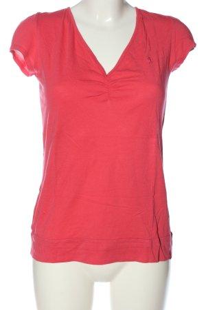 edc Camisa con cuello V rojo look casual
