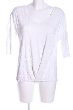 edc V-Ausschnitt-Shirt weiß Business-Look