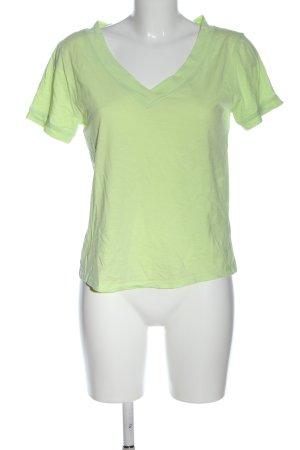 edc Camisa con cuello V verde moteado look casual