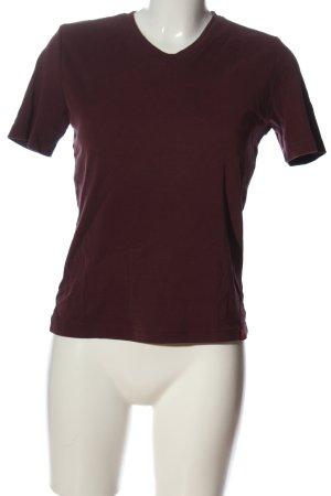 edc Camisa con cuello V marrón look casual