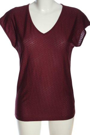 edc V-Ausschnitt-Shirt rot Casual-Look