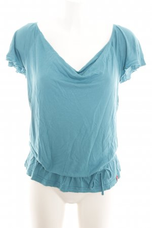 edc Cowl-Neck Shirt turquoise casual look