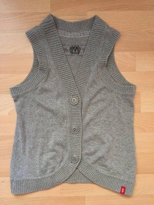 edc by Esprit Gilet tricoté argenté coton