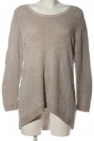edc Cable Sweater light grey-brown cable stitch casual look
