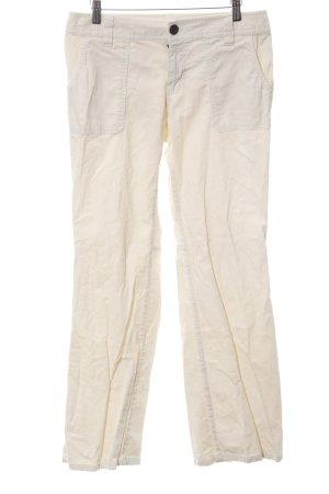 Eddie Bauer Pantalón de pana blanco puro look casual