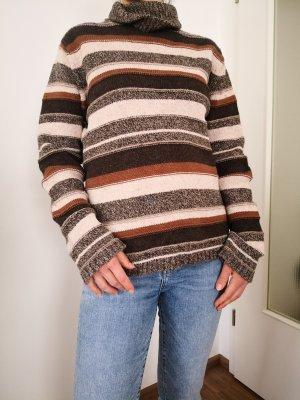 Eddie Bauer Maglione lavorato a maglia bronzo-marrone scuro Lana