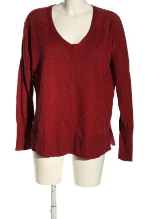 Eddie Bauer Fine Knit Jumper red flecked elegant