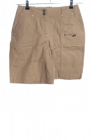 Eddie Bauer High-Waist-Shorts braun Casual-Look