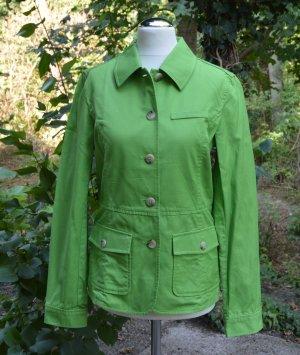 Eddie Bauer Jacke Frühling Sommer Sommerjacke Gr. XS grün apfelgrün Baumwolle