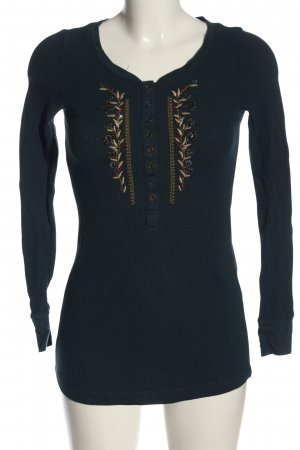 Eddie Bauer Long Sleeve Blouse blue-gold-colored casual look