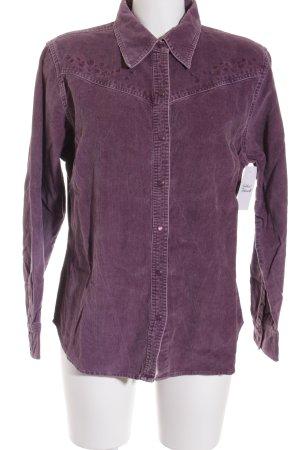 Eddie Bauer Langarmhemd grauviolett Casual-Look