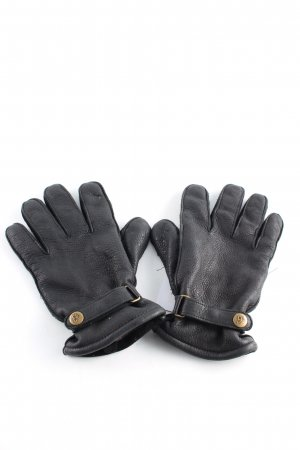 Eddie Bauer Leather Gloves black quilting pattern casual look
