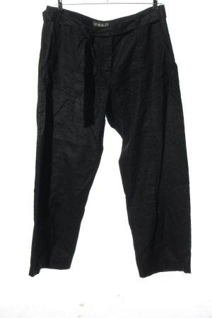 Eddie Bauer Pantalon en lin noir style décontracté