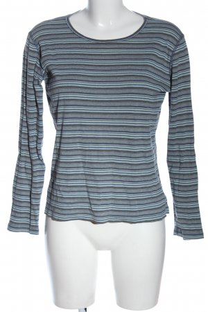 Eddie Bauer Longsleeve blue-light grey striped pattern casual look
