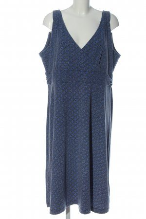 Eddie Bauer Midi Dress blue-silver-colored allover print elegant