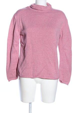 Eddie Bauer Rollkragenpullover pink meliert Casual-Look