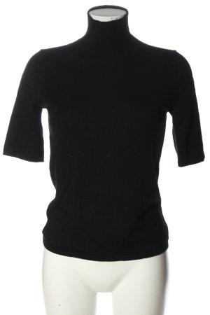 Eddie Bauer Camisa de cuello de tortuga negro look casual