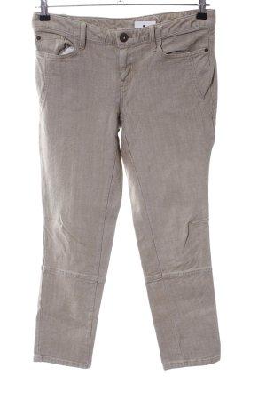 Eddie Bauer Slim Jeans wollweiß Webmuster Casual-Look