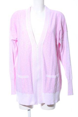 Eddie Bauer Strickjacke pink-weiß meliert Business-Look