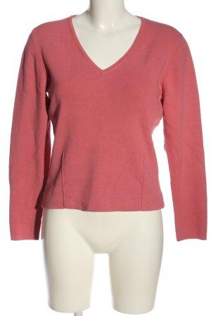 Eddie Bauer V-Ausschnitt-Pullover pink Casual-Look