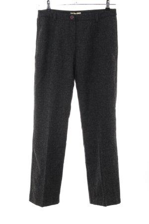 Eddie Bauer Pantalone di lana grigio chiaro puntinato stile professionale