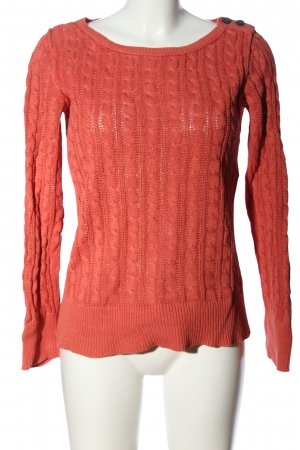 Eddie Bauer Jersey trenzado naranja claro punto trenzado look casual