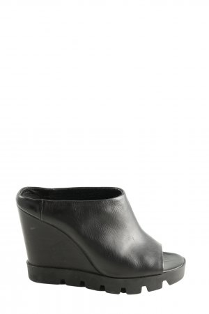 Eddie Rodriguez Wedges Sandaletten schwarz Casual-Look