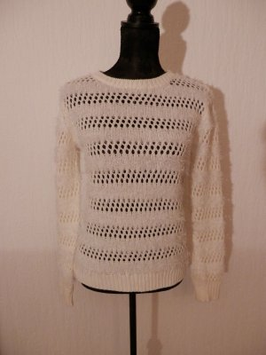 edel Blogger Strick Pullover Lochmuster Strickpullover Mohair/Wolle/Tierhaar Fashion Pulli