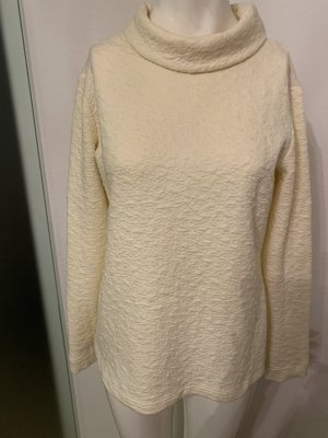 Edel Bluse Pullover strukturiert Stehkragen Gr 38 40 L von Minx
