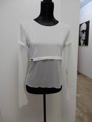 Wolford Camisa de malla blanco