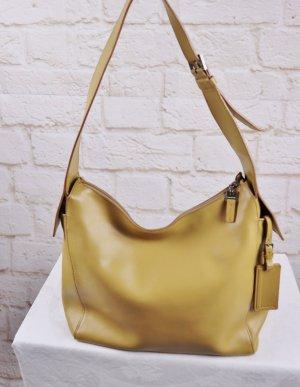 Edel Designer Handtasche Beuteltasche Lamarthe Senf Gelb Curry Ledertasche Handtasche Leder Tasche Umhängetasche