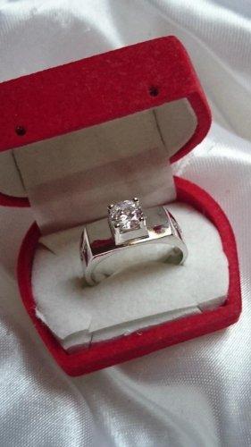Edel Herren Damen Silber Ring 925 mit Zirkonia Gr. 21