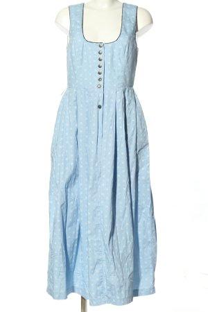 Edel Herz Dirndl bleu-blanc motif abstrait élégant