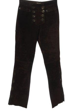 EDEL JOY Tradycyjne skórzane spodnie brązowy Styl klasyczny