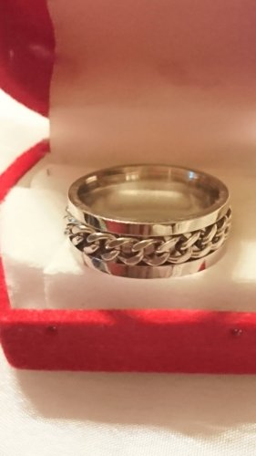 Edel Metall Ring Drehring Gr.18- Partnerring