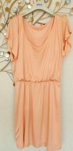 Edel schimmerndes Esprit Collection Viscose Kleid in Apricot, Gr. S